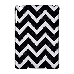 Chevron9 Black Marble & White Linen (r) Apple Ipad Mini Hardshell Case (compatible With Smart Cover)