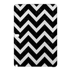 Chevron9 Black Marble & White Linen (r) Samsung Galaxy Tab Pro 10 1 Hardshell Case