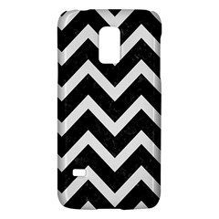 Chevron9 Black Marble & White Linen (r) Galaxy S5 Mini