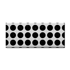 Circles1 Black Marble & White Linen Cosmetic Storage Cases