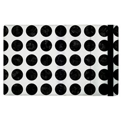 Circles1 Black Marble & White Linen Apple Ipad 2 Flip Case