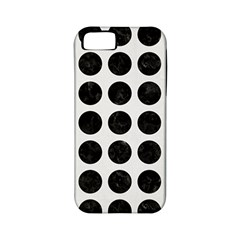 Circles1 Black Marble & White Linen Apple Iphone 5 Classic Hardshell Case (pc+silicone)