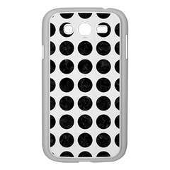 Circles1 Black Marble & White Linen Samsung Galaxy Grand Duos I9082 Case (white)
