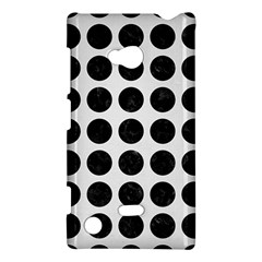 Circles1 Black Marble & White Linen Nokia Lumia 720