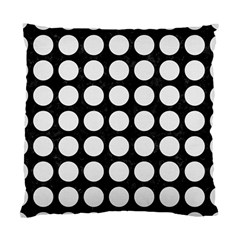 Circles1 Black Marble & White Linen (r) Standard Cushion Case (two Sides)