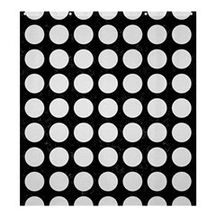 Circles1 Black Marble & White Linen (r) Shower Curtain 66  X 72  (large)