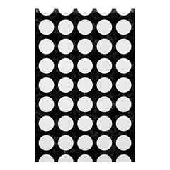Circles1 Black Marble & White Linen (r) Shower Curtain 48  X 72  (small)
