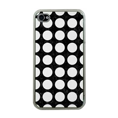 Circles1 Black Marble & White Linen (r) Apple Iphone 4 Case (clear)