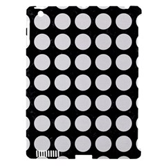 Circles1 Black Marble & White Linen (r) Apple Ipad 3/4 Hardshell Case (compatible With Smart Cover)