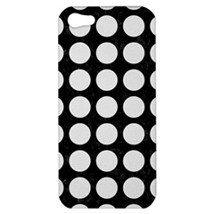 Circles1 Black Marble & White Linen (r) Apple Iphone 5 Hardshell Case