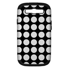 Circles1 Black Marble & White Linen (r) Samsung Galaxy S Iii Hardshell Case (pc+silicone)