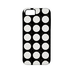 Circles1 Black Marble & White Linen (r) Apple Iphone 5 Classic Hardshell Case (pc+silicone)