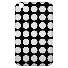 Circles1 Black Marble & White Linen (r) Samsung Galaxy Tab 3 (8 ) T3100 Hardshell Case