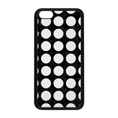 Circles1 Black Marble & White Linen (r) Apple Iphone 5c Seamless Case (black)