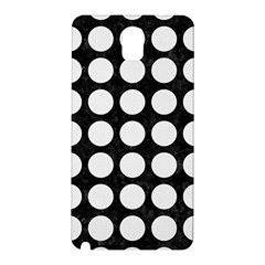 Circles1 Black Marble & White Linen (r) Samsung Galaxy Note 3 N9005 Hardshell Back Case