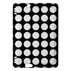 Circles1 Black Marble & White Linen (r) Kindle Fire Hdx Hardshell Case