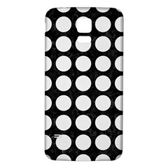 Circles1 Black Marble & White Linen (r) Samsung Galaxy S5 Back Case (white)