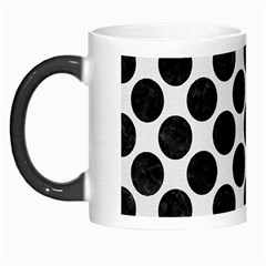 Circles2 Black Marble & White Linen Morph Mugs