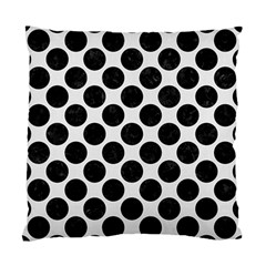 Circles2 Black Marble & White Linen Standard Cushion Case (one Side)