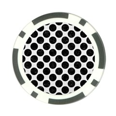 Circles2 Black Marble & White Linen Poker Chip Card Guard (10 Pack)