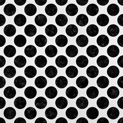 Circles2 Black Marble & White Linen Magic Photo Cubes