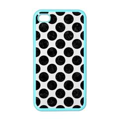 Circles2 Black Marble & White Linen Apple Iphone 4 Case (color)