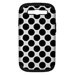 Circles2 Black Marble & White Linen Samsung Galaxy S Iii Hardshell Case (pc+silicone)