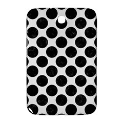 Circles2 Black Marble & White Linen Samsung Galaxy Note 8 0 N5100 Hardshell Case
