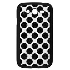 Circles2 Black Marble & White Linen Samsung Galaxy Grand Duos I9082 Case (black)