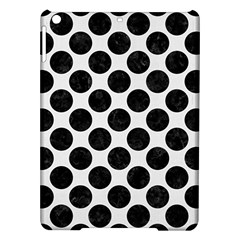 Circles2 Black Marble & White Linen Ipad Air Hardshell Cases