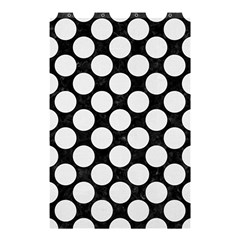 Circles2 Black Marble & White Linen (r) Shower Curtain 48  X 72  (small)
