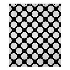 Circles2 Black Marble & White Linen (r) Shower Curtain 60  X 72  (medium)