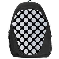 Circles2 Black Marble & White Linen (r) Backpack Bag