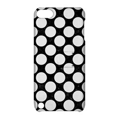 Circles2 Black Marble & White Linen (r) Apple Ipod Touch 5 Hardshell Case With Stand