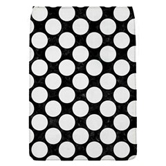 Circles2 Black Marble & White Linen (r) Flap Covers (s)