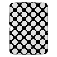 Circles2 Black Marble & White Linen (r) Samsung Galaxy Tab 3 (10 1 ) P5200 Hardshell Case