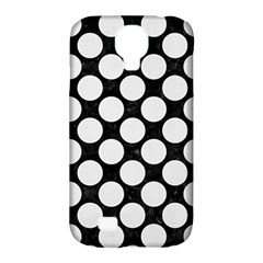 Circles2 Black Marble & White Linen (r) Samsung Galaxy S4 Classic Hardshell Case (pc+silicone)