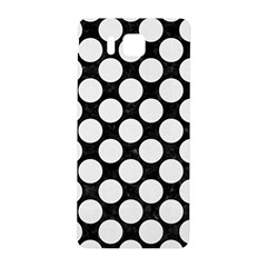 Circles2 Black Marble & White Linen (r) Samsung Galaxy Alpha Hardshell Back Case