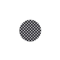 Circles3 Black Marble & White Linen 1  Mini Buttons