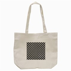 Circles3 Black Marble & White Linen Tote Bag (cream)