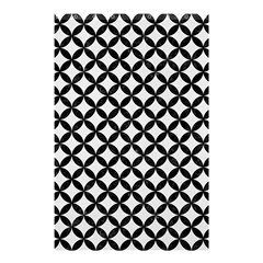 Circles3 Black Marble & White Linen Shower Curtain 48  X 72  (small)