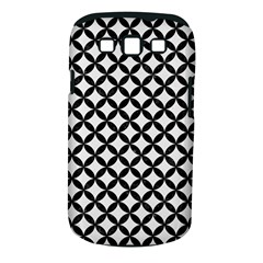 Circles3 Black Marble & White Linen Samsung Galaxy S Iii Classic Hardshell Case (pc+silicone)