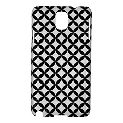 Circles3 Black Marble & White Linen Samsung Galaxy Note 3 N9005 Hardshell Case