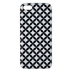 Circles3 Black Marble & White Linen Iphone 5s/ Se Premium Hardshell Case