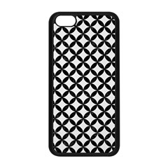 Circles3 Black Marble & White Linen Apple Iphone 5c Seamless Case (black)