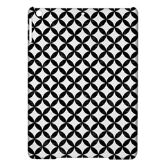 Circles3 Black Marble & White Linen Ipad Air Hardshell Cases
