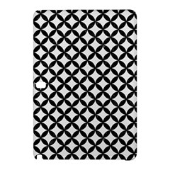 Circles3 Black Marble & White Linen Samsung Galaxy Tab Pro 12 2 Hardshell Case