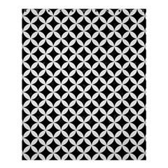 Circles3 Black Marble & White Linen (r) Shower Curtain 60  X 72  (medium)