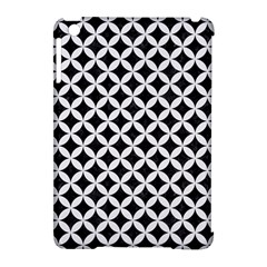 Circles3 Black Marble & White Linen (r) Apple Ipad Mini Hardshell Case (compatible With Smart Cover)