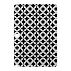 Circles3 Black Marble & White Linen (r) Samsung Galaxy Tab Pro 10 1 Hardshell Case